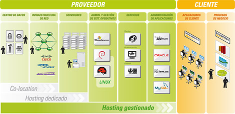 gráfico managed hosting